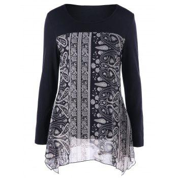 Paisley Flowy Tunic Top