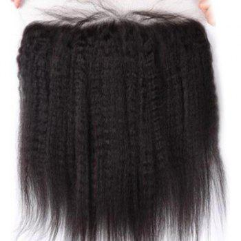 3Pcs/Lot 5A Remy Free Part Long Kinky Straight Indian Human Hair Weaves - NATURAL BLACK 12INCH*14INCH*16INCH