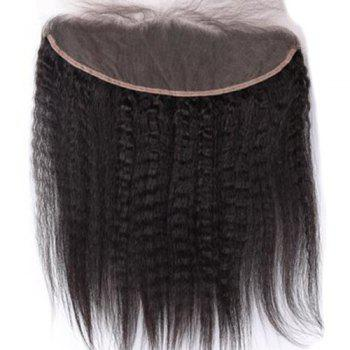 3Pcs/Lot 5A Remy Free Part Long Kinky Straight Indian Human Hair Weaves - NATURAL BLACK 18INCH*20INCH*22INCH