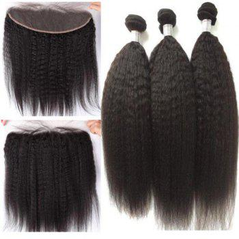 3Pcs/Lot 5A Remy Free Part Long Kinky Straight Indian Human Hair Weaves