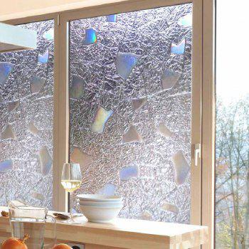 Electrostatic PVC Window Glass Wall Sticker - CLEAR WHITE