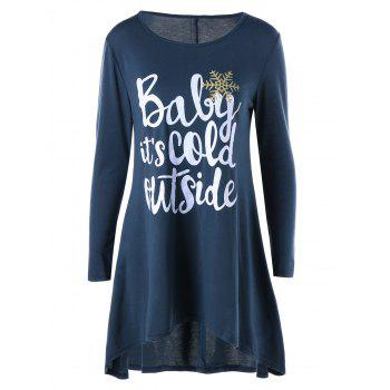 High Low Hem Funny Tunic Top