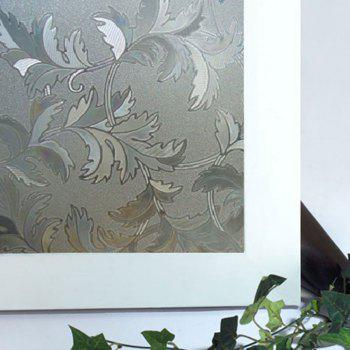 Plant Electrostatic Glass Window Wall Sticker - CLEAR WHITE