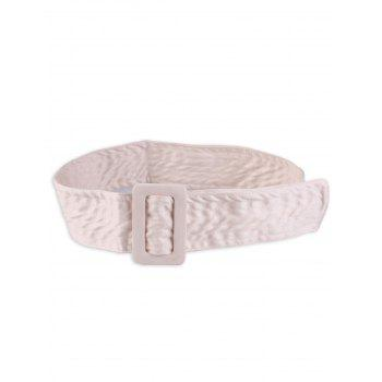 Rectangle Buckle Wide Faux Suede Waist Belt - OFF-WHITE OFF WHITE