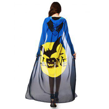 Witch Element Hooded Chiffon Halloween Cape