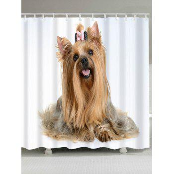 Cute Dog Pattern Waterproof Shower Curtain