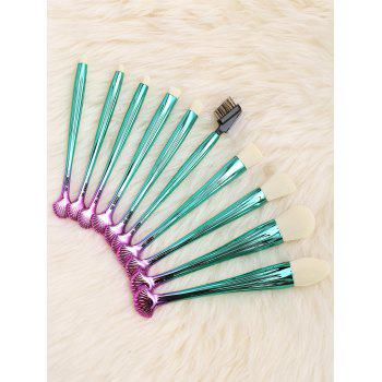 10Pcs Multifunction Gradient Color Shell Design Brushes Set