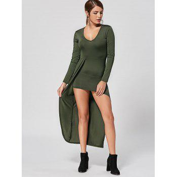 V Neck High Low Club Dress - L L