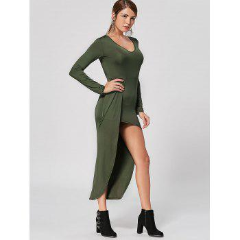 V Neck High Low Club Dress - M M