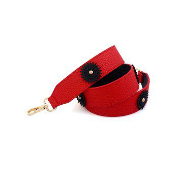 Vintage Flower Shoulder Strap Bag Accessory -  RED