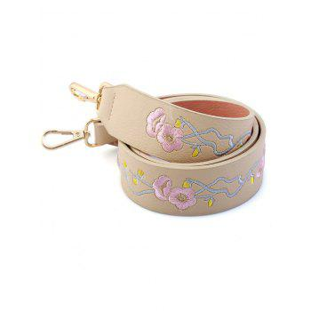 Wintersweet Embroidered PU Bag Strap -  OFF WHITE