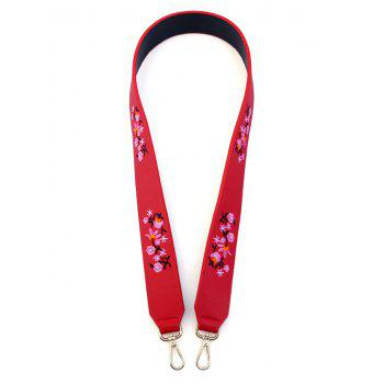 Tiny Floral Embroidered Bag Strap - RED RED