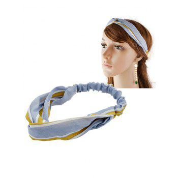 Multiuse Striped Elastic Hair Band - BLUE BLUE
