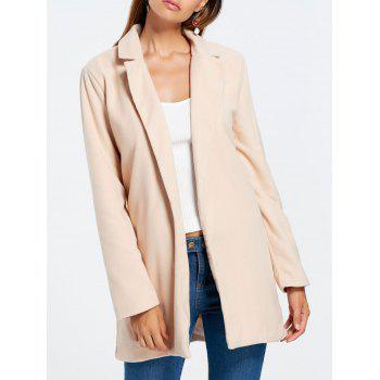 Slim Fit Long Lapel Blazer - APRICOT APRICOT