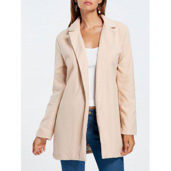 Slim Fit Long Lapel Blazer - APRICOT L