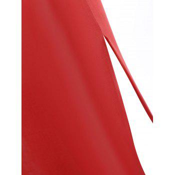 High Slit Long One Shoulder Lingerie Dress - RED RED