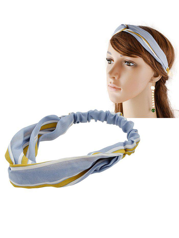 Multiuse Striped Elastic Hair Band - BLUE