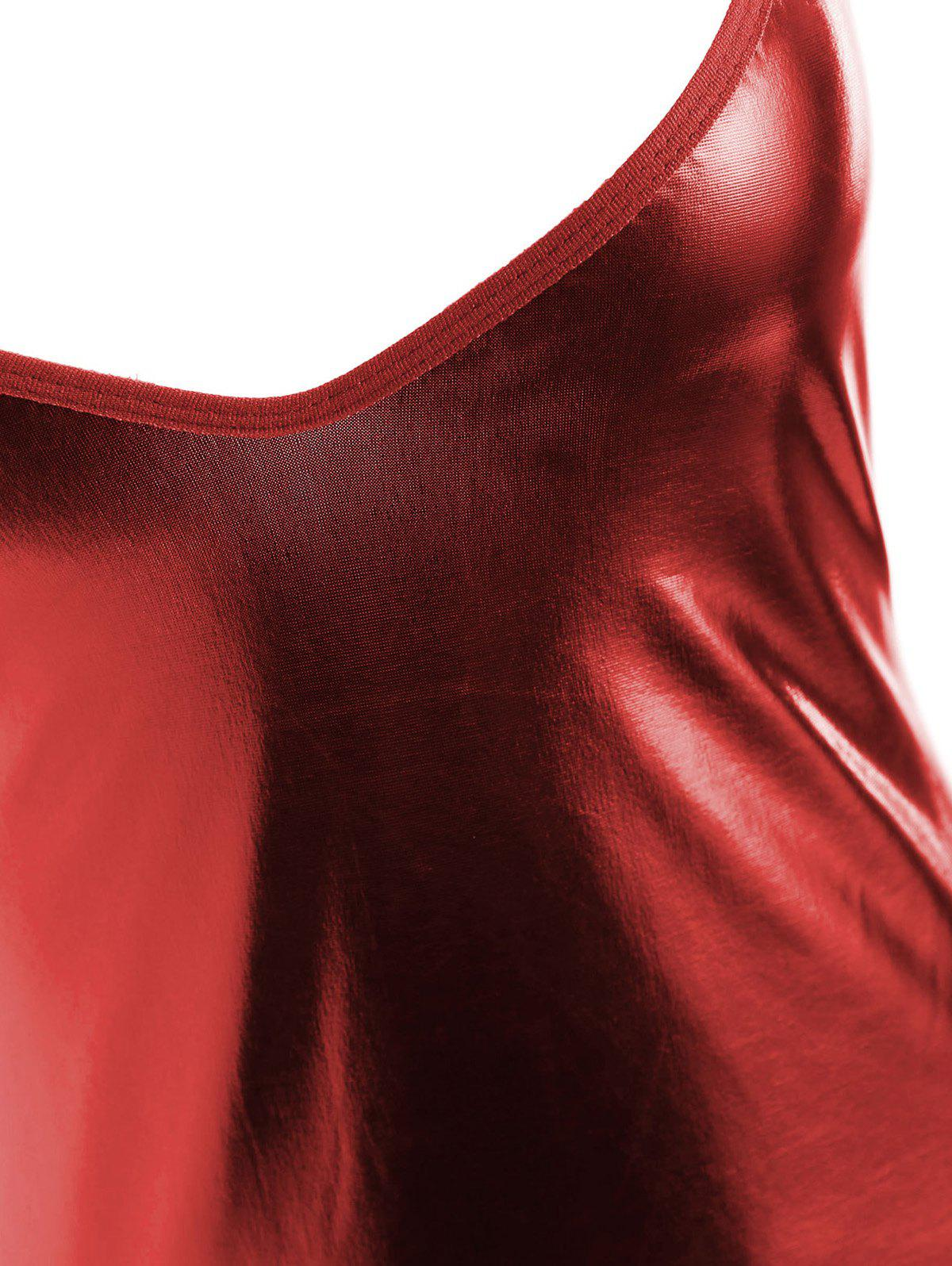 Short Cut Out Bodycon Club Robe - Rouge M