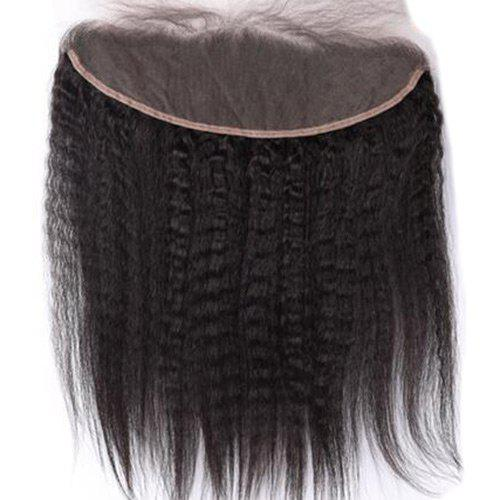 3Pcs/Lot 5A Remy Free Part Long Kinky Straight Indian Human Hair Weaves - NATURAL BLACK 16INCH*18INCH*20INCH