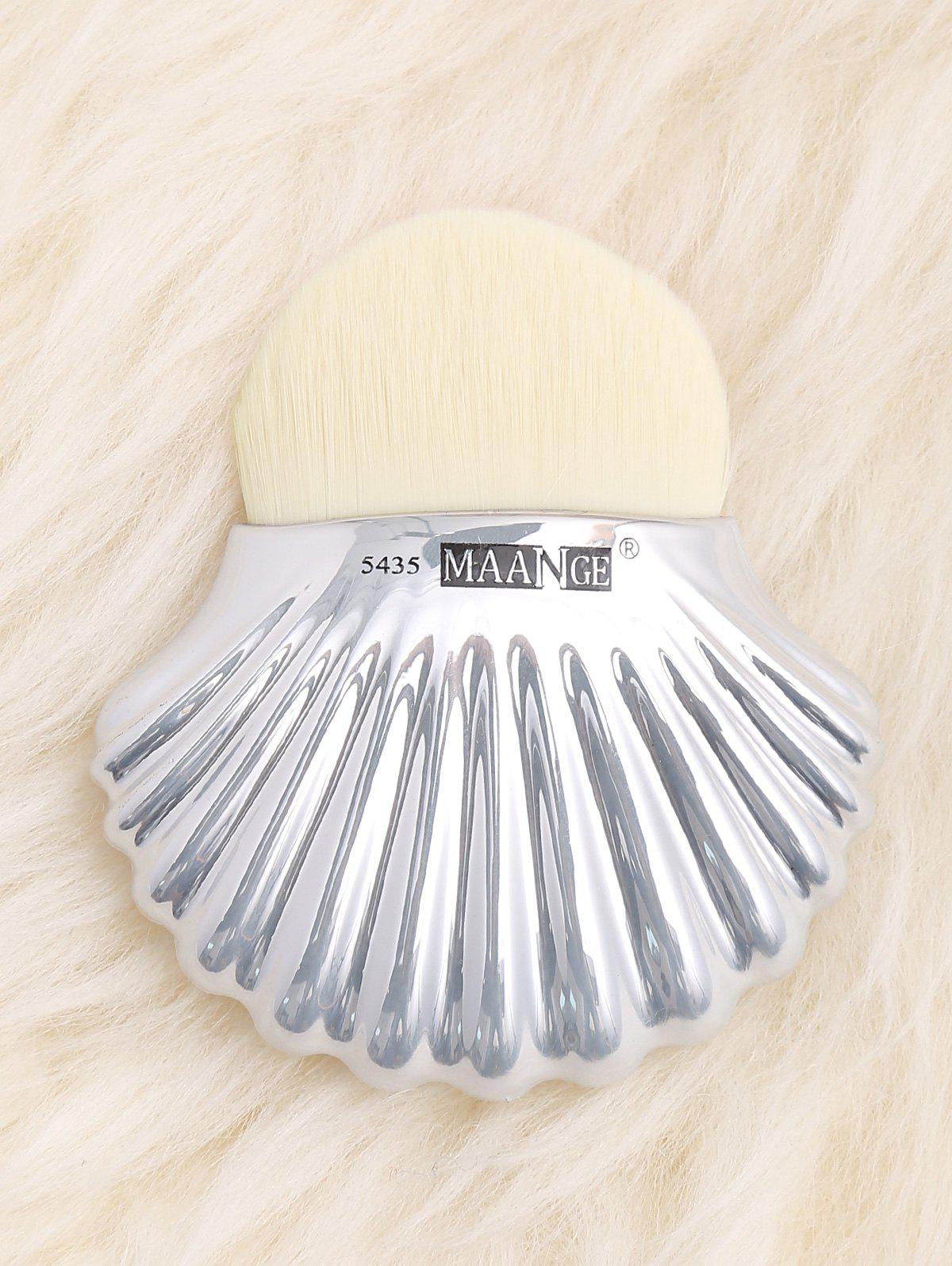 Shell Shape Fiber Hair Plating Foundation Brush - IVORY WHITE