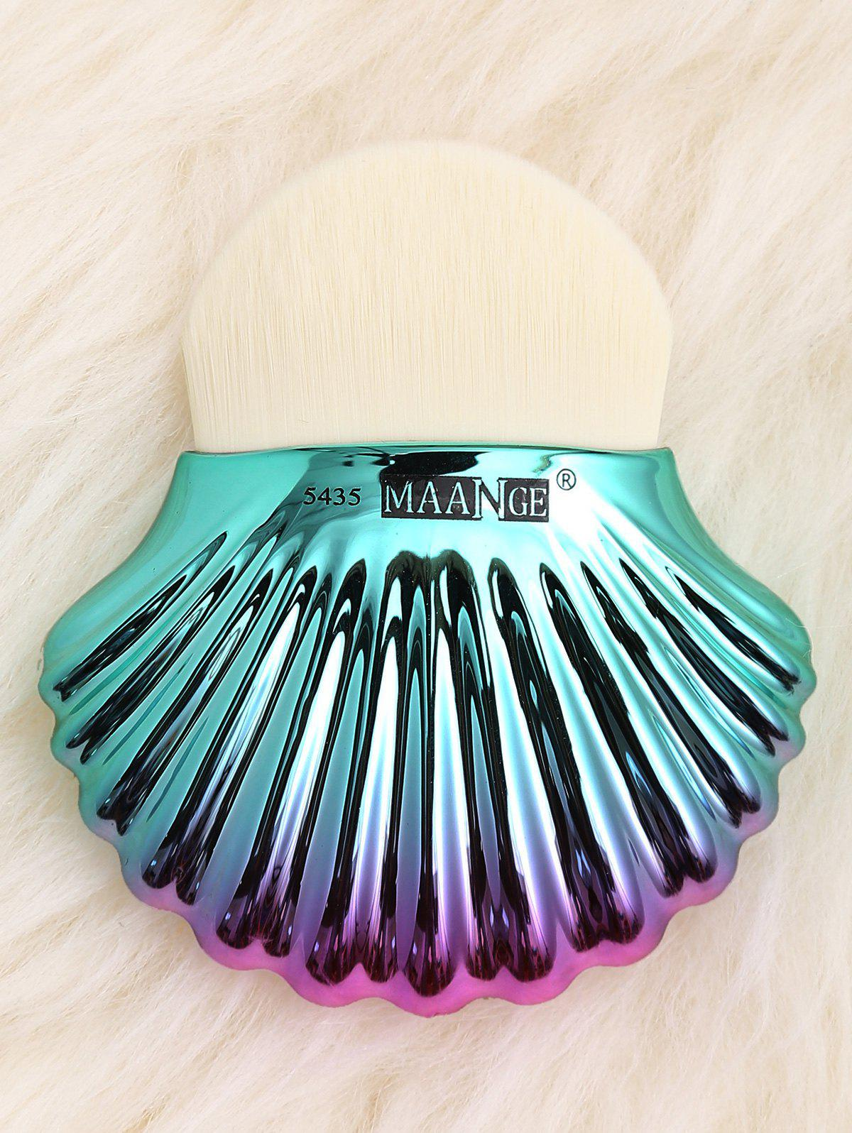 Two Tone Ocean Shell Plated Foundation Brush - WHITE