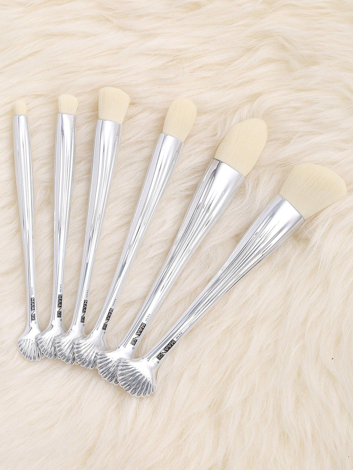 6Pcs Shell Design Plating Multipurpose Makeup Brushes Set brand new s262dc b32 6pcs set with free dhl ems