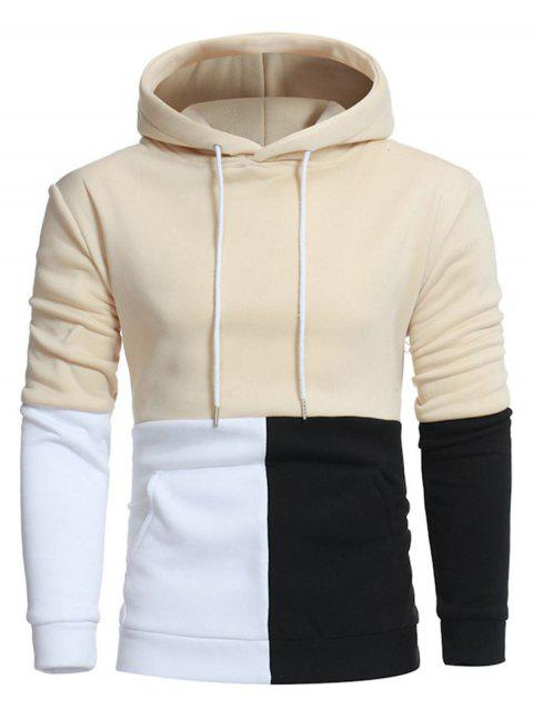 Sweat à Capuche Pull-over Panneau en Blocs de Couleurs - Palomino M