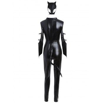 Fitted Classic Halloween Costume - BLACK BLACK