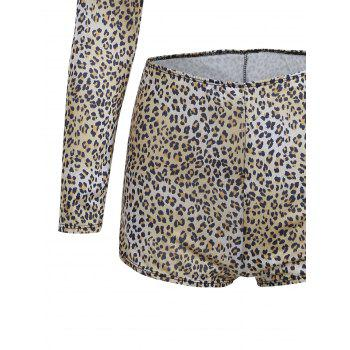 Cropped Leopard Sexy Halloween Costume - BLACK LEOPARD PRINT BLACK LEOPARD PRINT