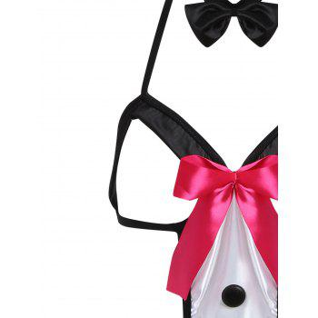 Sexy Bunny Halloween Costume - BLACK ONE SIZE