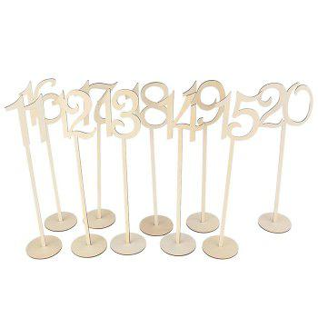 Wedding Bar Wooden Table Numbers -  IVORY YELLOW