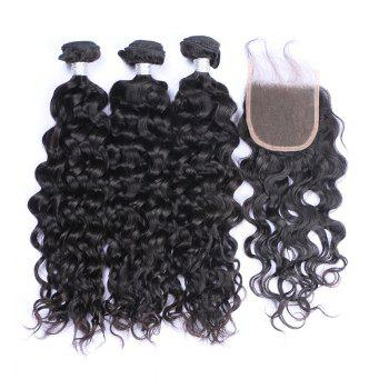 3Pcs / Lot Long Natural Wave 7A Remy Cheveux humains indiens se tissent