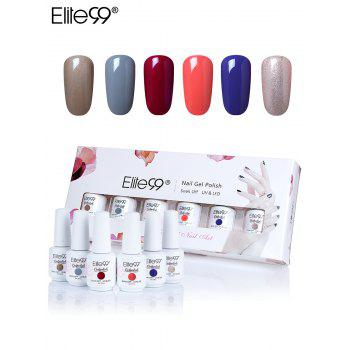Elite99 6 Colors UV LED Soak Off Gel Nail Polishing Set