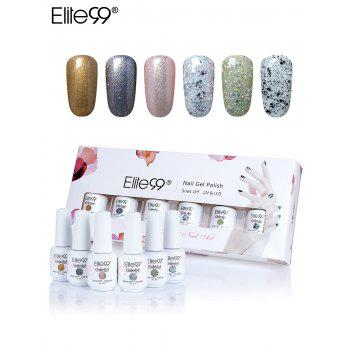 Elite99 6Pcs Polishing UV LED Soak-off Gel Set de boîte à ongles