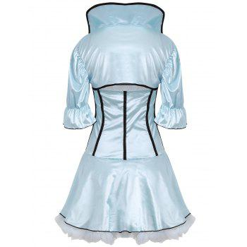 Housemaid Satin Cosplay Costume Dress - ONE SIZE ONE SIZE