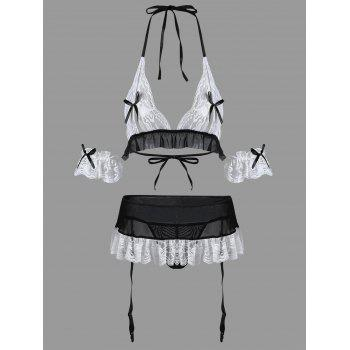 Housemaid Sexy Halloween Costume - WHITE WHITE