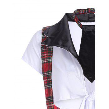 Checked School Uniform Cosplay Costume - ONE SIZE ONE SIZE