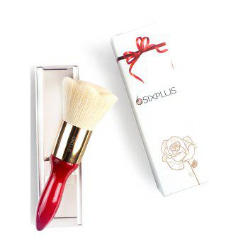 Rose Shape High Grade Hair Powder Brush -  RED