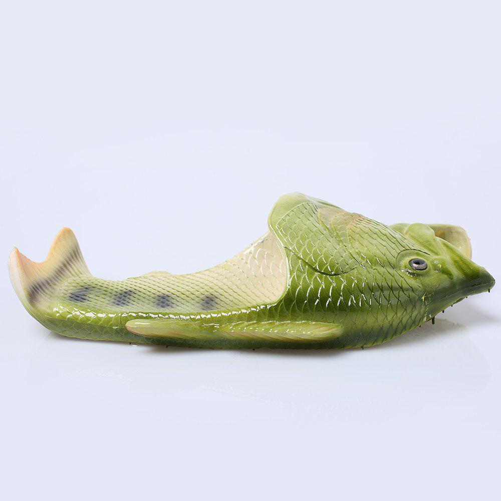 Fish Shaped Plastic Slippers - GREEN SIZE(38-39)