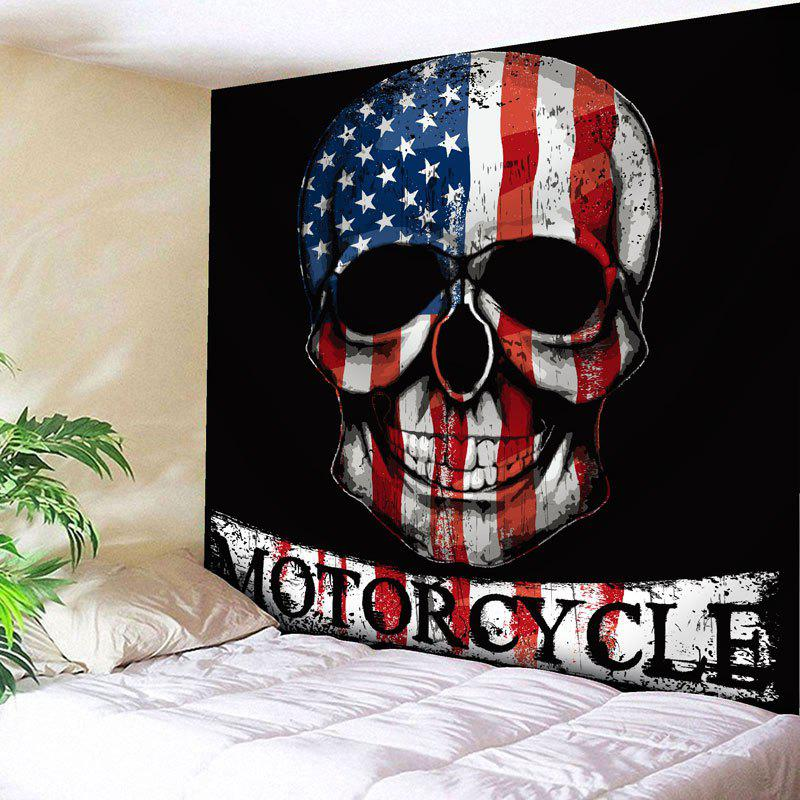 Skull Print Patriotic American Flag Wall Hanging Tapestry skull brains fist wall hanging tapestry