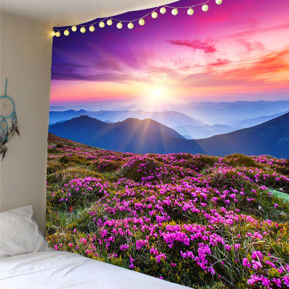 Lavender Pattern Decoration Wall Tapestry - PURPLE W91 INCH * L71 INCH
