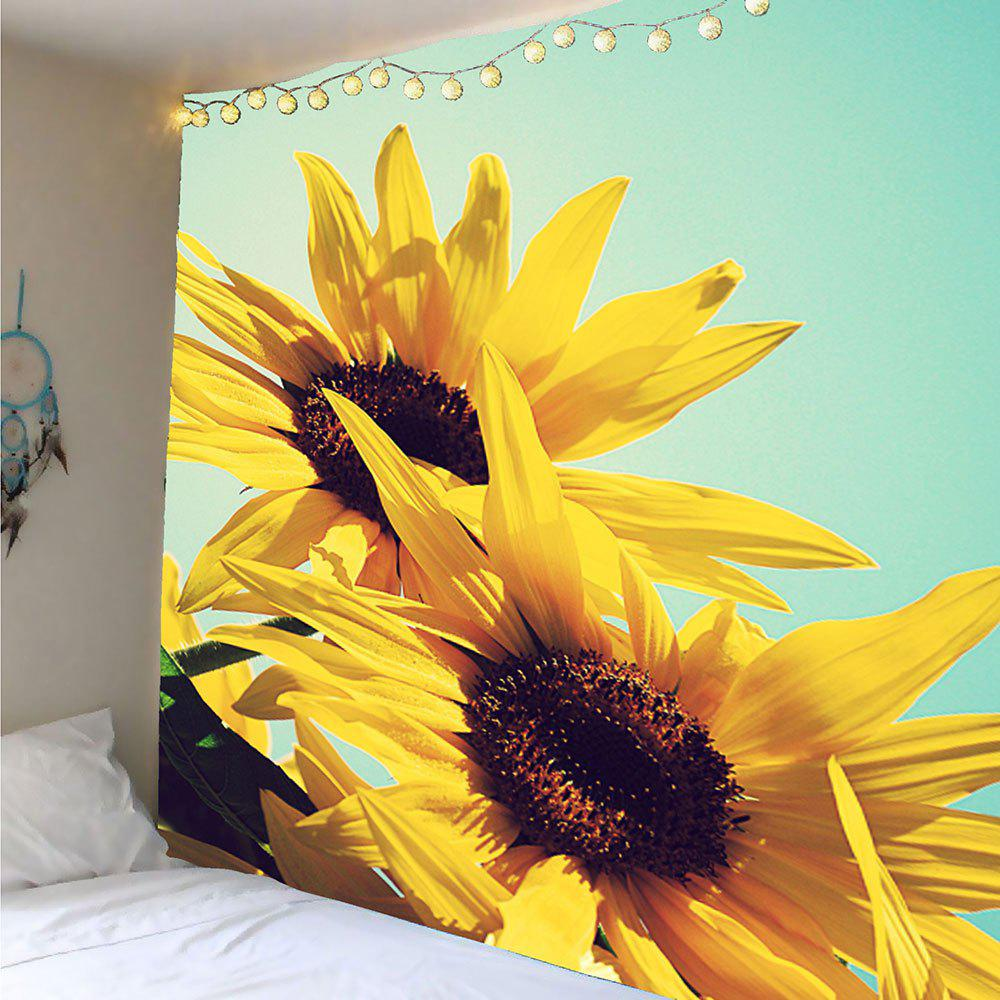 2018 Sunflowers Pattern Wall Decoration Tapestry YELLOW W INCH L ...