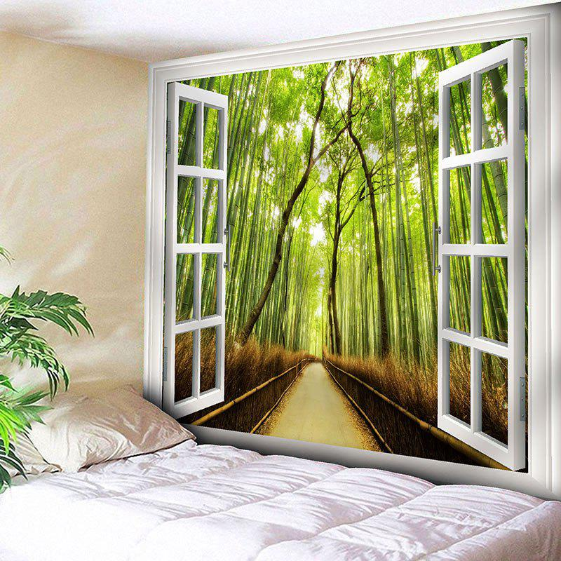Window Bamboo Forest Path Bedroom Tapestry дорожка 900 1500мм