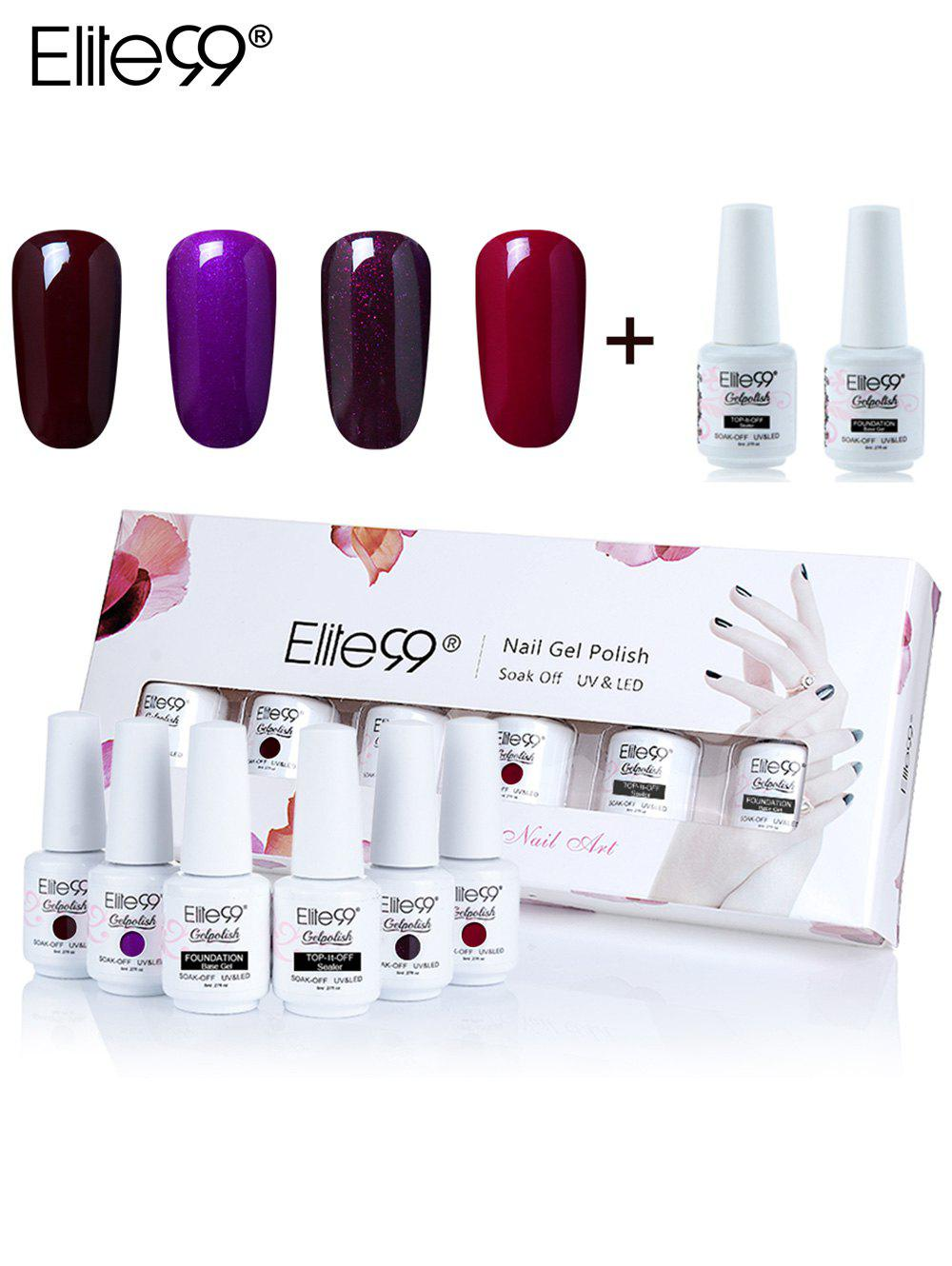 Ensemble de Vernis à Ongles Gel à Tremper Elite99 UV LED -