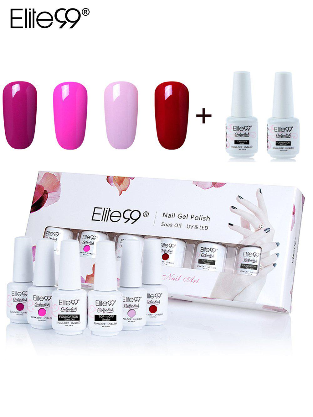 Ensemble de Manucure et de Vernis à Ongles Gel à Tremper Elite99 UV LED 6 Couleurs -