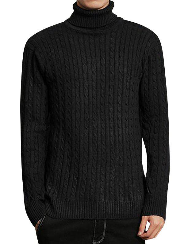 Turtleneck Cable Knit Sweater turtleneck textured cable knit sweater