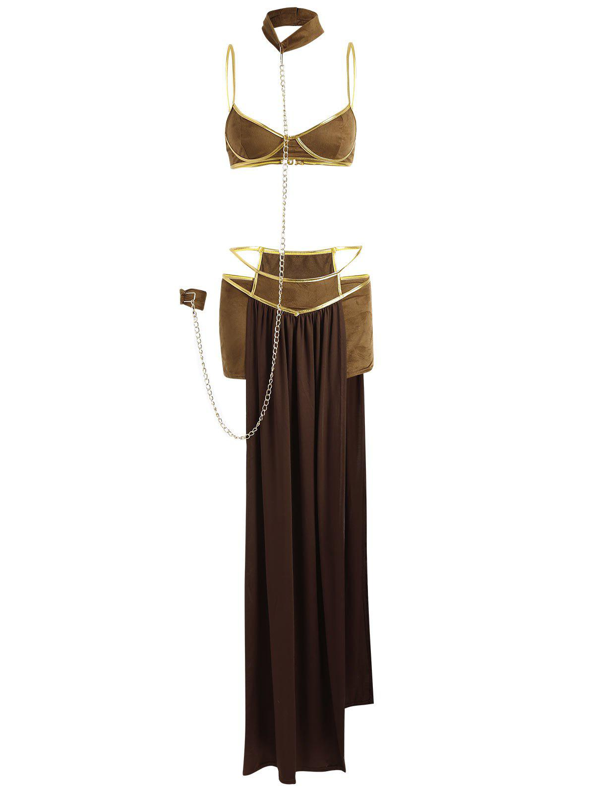 Goddess Princess Halloween Costume Outfits - KHAKI ONE SIZE