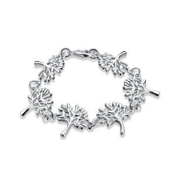 Metal Tree of Life Chain Bracelet - SILVER SILVER