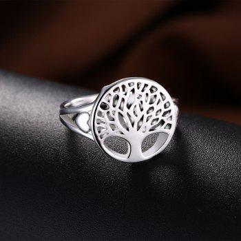 Alloy Round Tree of Life Ring - Argent 7