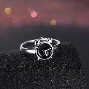 Cute Alloy Round Clock Ring - 9 9